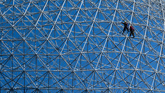 Don't fear the sphere (5 aces down) Tags: biosphere firefighter parc jeandrapeau