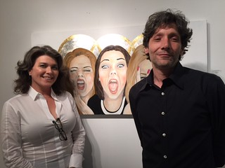Conde contemporary gallery director Stacy Conde with husband Andres at their opening during Coral Gables gallery walk