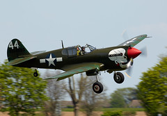 Warhawk (Bernie Condon) Tags: uk plane vintage flying fighter beds aircraft aviation military airshow planes ww2 preserved shuttleworth kittyhawk curtis warplane tomahawk airdisplay p40 2016 warhawk usaaf oldwarden hangar11