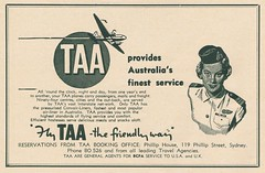 TAA c1951 (Runabout63) Tags: airline advert taa