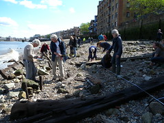 FROG trainees planning the timbers on the foreshore (Thames Discovery Programme) Tags: london archaeology training community riverthames rotherhithe thamesdiscoveryprogramme fsw03