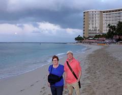 (Mitchell Lafrance) Tags: travel vacation usa holiday beach hawaii oahu pacificocean waikikibeach 2014 pageceline celinepage pagepierre pierrepage