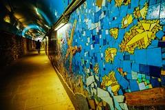 Riomaggiore tunnel (ShutterBugWithGlasses) Tags: colorfulart underpass italy cinqueterre riomaggiore