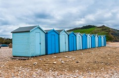 Beach huts (linco100) Tags: uk greatbritain summer vacation england holiday beach buildings coast seaside unitedkingdom britain huts 12 beachhuts hdr woodenbuildings chalets twelve sheds timberconstruction timberbuildings beachchalets