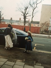 Finding old photos (Elysia in Wonderland) Tags: old wedding flower mike girl car photo dress flowergirl joanne elysia