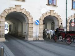 Horses at Hofburg (Wiebke) Tags: vienna wien sterreich austria europe architecture architektur hofburg hofburgpalace arches horseandcarriage carriage