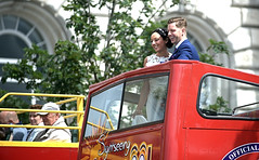 With This Ring...The Bus Will Stop (ihughes22) Tags: wedding bus liverpool groom bride nikon happycouple pierhead doubledecker brideandgroom opentopbus ihughes22