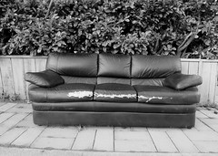 The Long Wait (Bart D. Frescura) Tags: blackandwhite leather couch sofa bayarea westcoast bdf califorina theisland bartdfrescura couchcompulsion