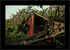 Ruins near Hamburg MI (the Gallopping Geezer 3.8 million + views....) Tags: wood building abandoned mi barn canon ruins decay michigan hamburg structure faded worn weathered derelict decayed lumber geezer 2010 corel