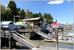 Living On Stilts (CanMan90) Tags: ocean houses canada sunshine docks canon boats spring fishing village britishcolumbia ramps tourists vancouverisland april stilts cowichan cowichanbay cowbay eastersunday cans2s rebelt3i