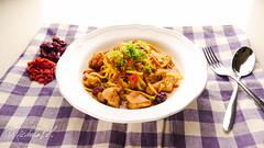 (Nicholas  H) Tags: food chicken restaurant sesame creative taiwan pasta delicious spaghetti wolfberry