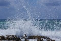 Wave Breaks On Cozumel Shore (dcstep) Tags: beach rocks wave cozumel allrightsreserved breaking breakingwave caribbeansea ef24105mmf4lis canon5dmkiii copyright2015davidcstephens z5a7103dxosrgb dxoopticspro103