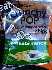 Wasabi Ranch Chips // Eatrageous (Sarah Scheffer) Tags: ranch toronto green silver shopping bag vegan label shapes pasta chips packaging snacks spicy wasabi purchase crunchy penne popped loblaws glutenfree dairyfree eatrageous