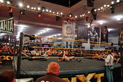 NXT Wrestle Bull Dempsey pins opponent Jason Jordan in ring with ref counting (Eric Broder Van Dyke) Tags: california jason with pins bull ring jordan dempsey counting wrestle wwe ref opponent 2015 nxt axxess