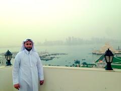 In the Qatari dress, Doha.