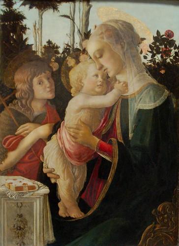 La Vierge et l'Enfant avec le jeune saint Jean-Baptiste, Botticelii, vers 1470-1475