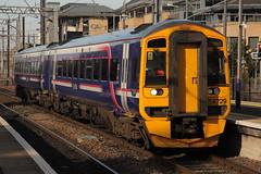 158729 (Rob390029) Tags: station train scotland edinburgh track diesel transport tracks scottish rail railway scotrail class transportation rails multiple service passenger haymarket 158 unit dmu hym abelio 158729