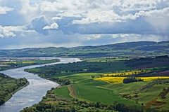 The River Tay. (artanglerPD) Tags: trees sunshine clouds river spring farming tay perth fields