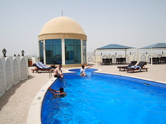 Hotel rooftop, Doha.
