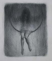 Fugue 2 (mikecreighton) Tags: original portrait blackandwhite woman art film artwork experimental drawing circus aerial charcoal lyra cinderella figurative fugue indiegogo