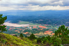 Da Lat city from the high view (minhty0602) Tags: cloud mountain mountains tree field river landscape vietnamese pentax cloudy hill hills vietnam highland valley fields agriculture dalat pentaxdslr sigma1750 pentaxk3