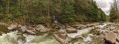 DSC_0078 - DSC_0084 (Michael P Bartlett) Tags: water river bristol rocks stream vermont panoramic falls
