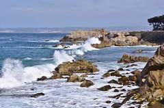 Crashing wave - Pacifric Grove (stevelamb007) Tags: california blue seascape water landscape bay monterey nikon rocks waves pacificocean pacificgrove crashing nikkor18200mm stevelamb d7200
