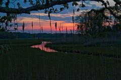 Twilight on the Marsh (brucetopher) Tags: pink light sunset shadow sky cloud sunlight silhouette clouds sunrise skies estuary marsh pinksky saltmarsh