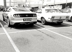 Old vs new Mustang (RamonRS6) Tags: new old ford tail 1967 vs mustang 2015