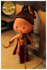 Princess Leia Slave Girl Custom 2 (Plum's Place) Tags: starwars princessleia strawberryshortcake ooakdoll slavegirlleia retro80s retrotoys plumsplacecustoms plumsplace