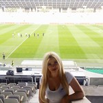 07.05.16 Hostess for the fotball club Olimpija./Hostesniki NK Olimpija Ljubljana na tekmi Olimpija:Maribor