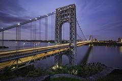 Ever since I left the city... (CliffPetersonPhotography) Tags: nyc newyorkcity longexposure bridge newyork water clouds zeiss cityscape sony hudsonriver georgewashingtonbridge washingtonheights observationdeck newyorkcityskyline a7rii sonyilce7rm2 batis18mm