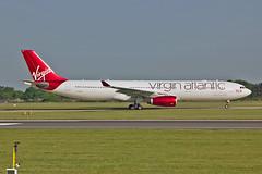 "G-VLUV Airbus A.330-343E Virgin Atlantic MAN 03-06-16 (PlanecrazyUK) Tags: egcc manchester man ringway ""manchester airport"" gvluv airbusa330343e virginatlantic 030616"