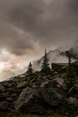 Moody (Jennifer Kapala Photography) Tags: trees lake mountains tree clouds rockies rocks moody dramatic rocky canadian louise banff deciduous moraine fogfoggy trrline calgaryfamilyphotographer calgarychildphotography calgarynewbornphotography calgaryfamilyphotography calgaryfamilyphotographers calgarygraduationphotography jenniferkapalaphotographycalgaryfamilyphotography jenniferkapalaphotographycalgarybabyphotography