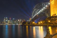 Sydney Beam (satochappy) Tags: city lights sydney australia beam nsw harbourbridge
