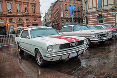 Ford Mustang (xwattez) Tags: auto old france ford car automobile expo voiture exposition american mustang transports toulouse ancienne capitole 2016 vhicule amricaine