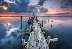 Color Therapy (CResende) Tags: wood travel sunset sun color portugal water clouds pier mood path colorfull tranquility serenity therapy reflexion carrasqueira waterscape d810 cresende