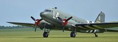 IWM Duxford - American Air Show, May 2016 (Snapshooter46) Tags: aircraft transport skytrain dc3 dakota cambridgeshire c47 iwmduxford may2016 americanairshow