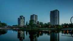 Bcn parcs-1 (dACE :)) Tags: barcelona espaa water architecture night noche pond spain arquitectura agua bcn cel catalonia estanque catalunya es aigua catalua nit parcs skycraper rascacielos gratacels espanya estany