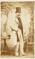 """Jean Laurent, """"Retrato masculino"""" (carte de visite, ca. 1860) (Museo del Romanticismo) Tags: jean museo historia laurent xix fotografa siglo romanticismo"""