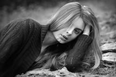 Dina (KondratovychPhotography) Tags: park wood portrait blackandwhite bw girl face photoshop blackwhite nikon women ukraine cherkassy cs5