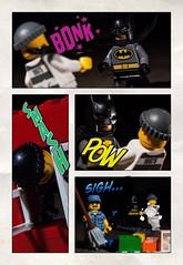 saturday morning cartoons (Chris Blakeley) Tags: seattle dc comic lego comicbook batman janitor minifigure hipstamatic halftone2