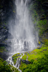Fjord Waterfall (Viv Lynch) Tags: city cruise eu europe eurotrip holiday landscape travel urban vacation norway fjord geiranger geirangerfjord waterfall falls water beautiful peaceful river glacier mountains