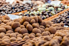 Chocolate galore @Boqueria (DingoShoes - life's a dream) Tags: chocolates delicious confectionery laboqueria boqueria market mercado barcelona spain focus bokeh dof depthoffield travelphotography holiday memories foryou ilovespain wanderlust nikon nikond7000 afsnikkor18105mm13556ged yummy ilovechocolates