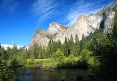 Yosemite Valley View Cathedral Rocks & Spires (michael_e437) Tags: yosemite valleyview cathedral rocksspires nationalpark mercedriver bridalveilfalls waterfalls granite anseladams johnmuir drought verdant california sierranevada sierranevadamountains