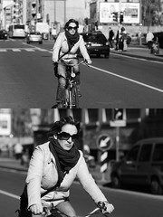 [La Mia Citt][Pedala] (Urca) Tags: portrait blackandwhite bw bike bicycle italia milano bn ciclista biancoenero mir bicicletta 2016 pedalare 8728 nikondigitale ritrattostradale