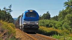 Comboio Internacional 49006 ( Comsa Rail 335.001 ) - Vila Fria - Linha Minho (ruicmsilva) Tags: transport internacional rail vila madeira comboio linha minho fria tuy ferroviario locomotiva comsa 335001 rlcelbi alvararães