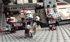 Rancor Battalion - Secure the Area (Johnny-boi) Tags: lego custom minifigure minifig colt trooper clone army gunship ucs pauldron helmet rancor battalion republic