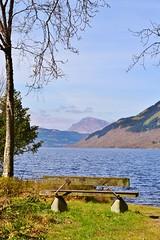 Rowardennan (Michelle O'Connell Photography) Tags: uk mountains bench scotland highlands scenery europe view britishisles unitedkingdom stirling scottish snowcapped benlomond lochlomond stirlingshire rowardennan beinnime beinnanlochain michelleoconnellphotography
