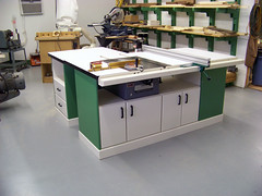 Rex Parkison table saw with VerySuperCool Tools fence system 01